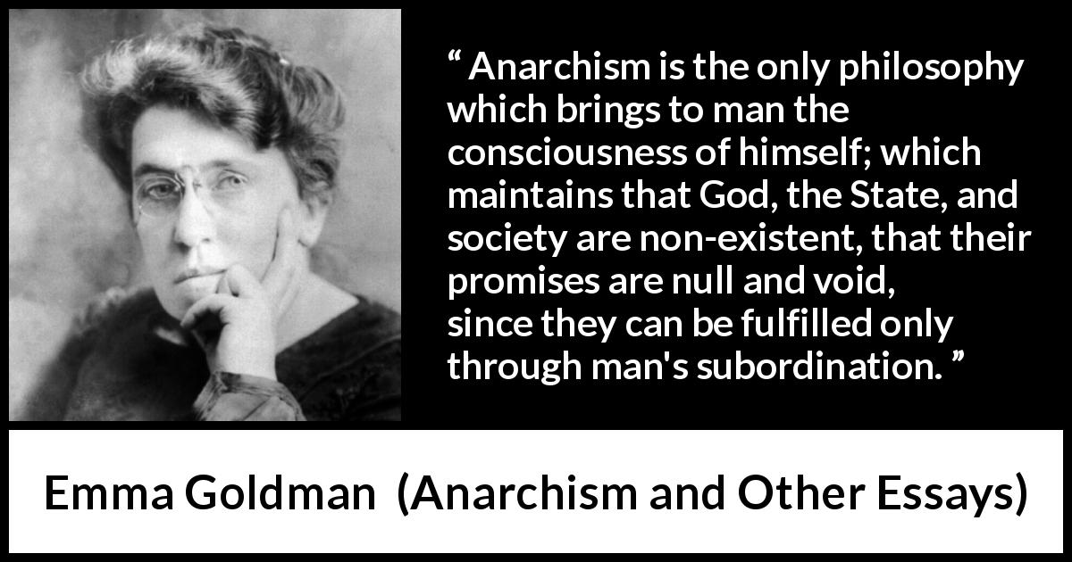 emma goldman essays on anarchism