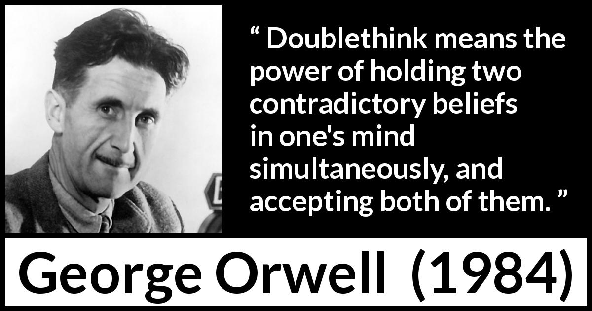 doublethink quotes