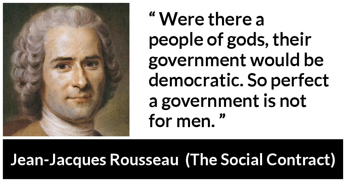Were There A People Of Gods Their Government Would Be Democratic