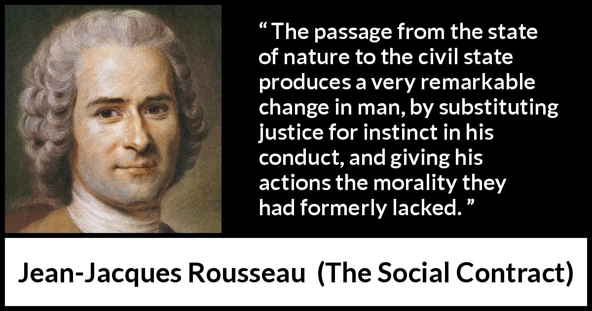 an analysis of state of nature by jean jacques rousseau Comparative analysis of locke and rousseau the writings of jean-jacques rousseau a state of nature would agree to the societal conditions that exist.