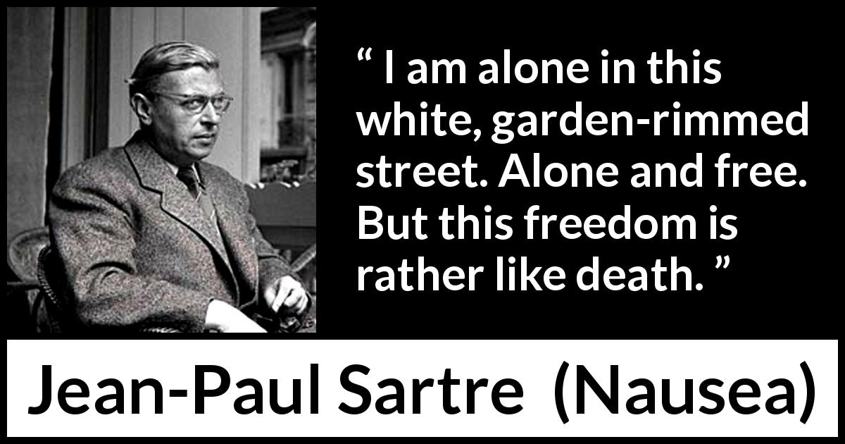 """I am alone in this white, garden-rimmed street. Alone and ..."