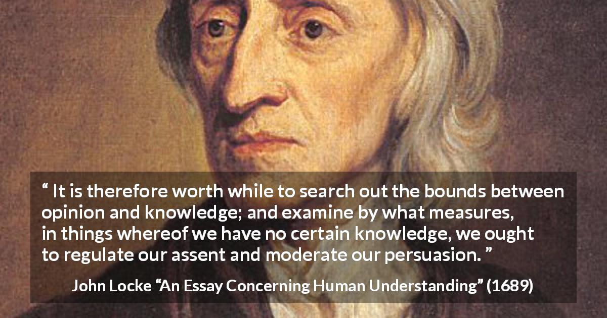Essay concerning human understanding