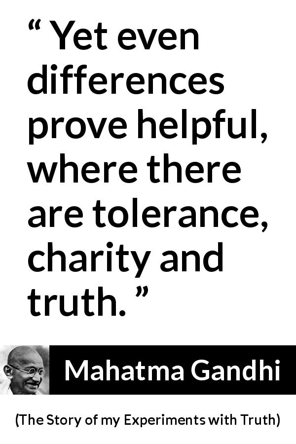 """Yet even differences prove helpful, where there are ..."