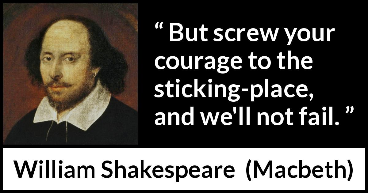 Courage in macbeth