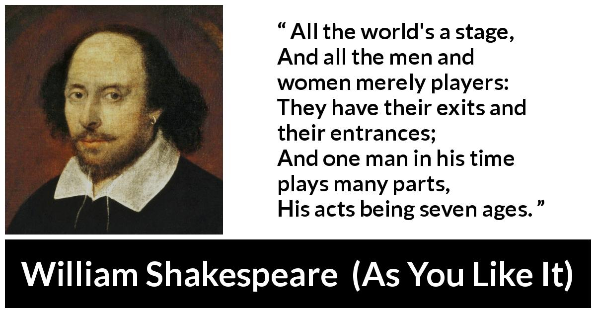 William Shakespeare - As You Like It - All the world's a stage,