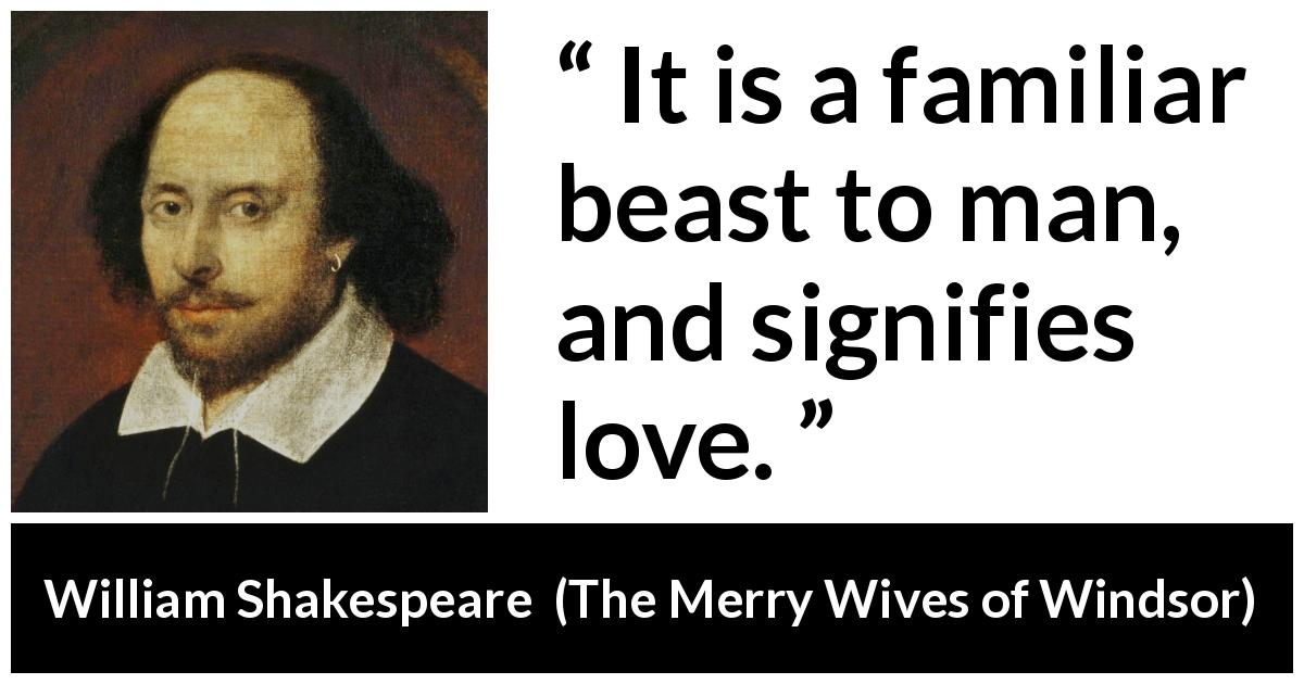 an analysis of william shakespeares the merry wives of windsor