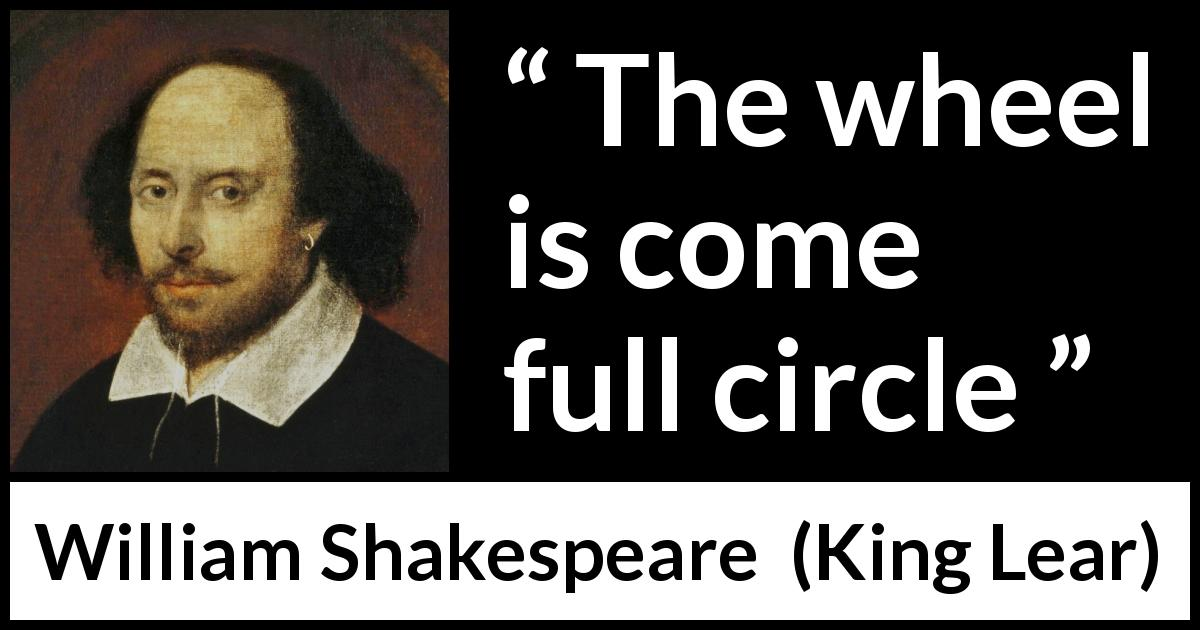 William Shakespeare - King Lear - The wheel is come full circle