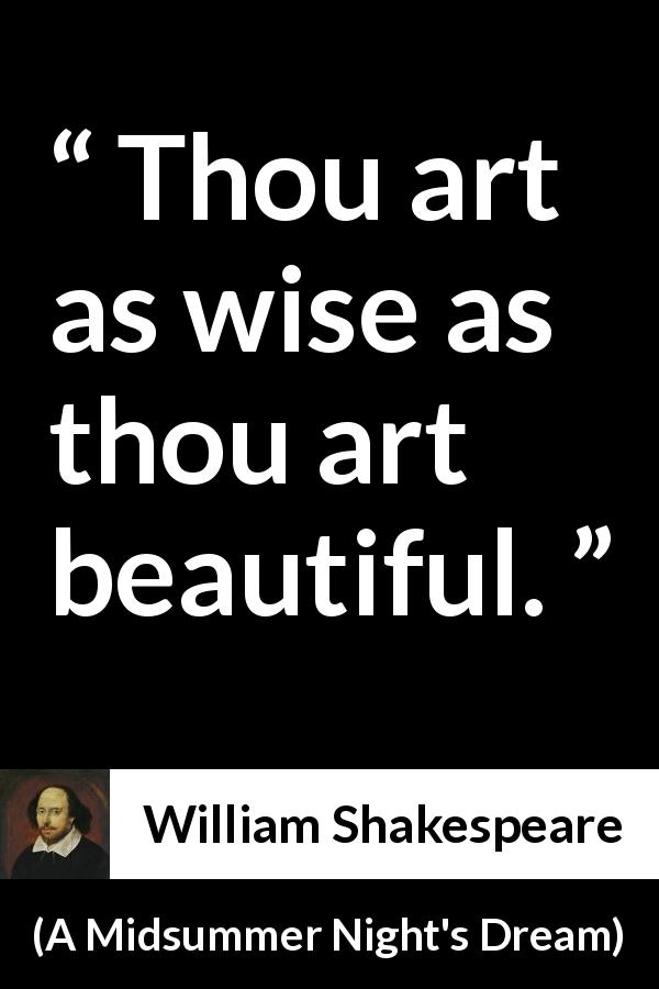 "Thou Art As Wise As Thou Art Beautiful"" Kwize Best Midsummer Night's Dream Quotes"